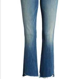 Two Step Fray High Waist Ankle Bootcut Jeans